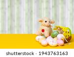 Easter greeting card template....