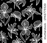 Trendy Floral Background. Drawn ...
