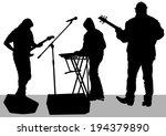 pianist and guitarist of rock... | Shutterstock . vector #194379890