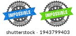 impossible grunge stamp set.... | Shutterstock .eps vector #1943799403