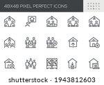set of vector line icons... | Shutterstock .eps vector #1943812603