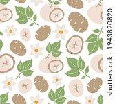 potato seamless pattern. whole...   Shutterstock .eps vector #1943820820