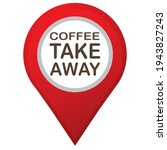 coffee take away text and map...