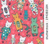 vector seamless pattern with... | Shutterstock .eps vector #194383184