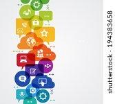 vector background. social media ... | Shutterstock .eps vector #194383658