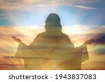 Silhouette Of Jesus Christ And...