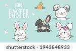 draw vector banner design cute... | Shutterstock .eps vector #1943848933