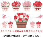 illustration set of pots with... | Shutterstock .eps vector #1943857429