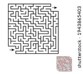maze game for kids and adults....   Shutterstock .eps vector #1943865403