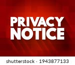 privacy notice text quote ... | Shutterstock .eps vector #1943877133
