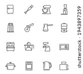 kitchen appliances thin line... | Shutterstock .eps vector #1943897359