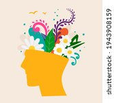 mental health concept. abstract ...   Shutterstock .eps vector #1943908159