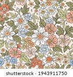 vintage seamless floral pattern.... | Shutterstock .eps vector #1943911750