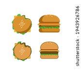 vector illustration of burger...