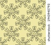 seamless pattern with the... | Shutterstock .eps vector #1943940793