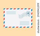 postal envelope. envelope ... | Shutterstock .eps vector #1943941399