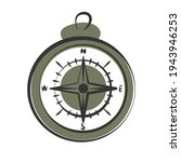 vintage magnetic compass hand... | Shutterstock .eps vector #1943946253