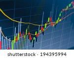Financial Data Graph At Stock...