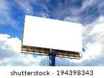 tall billboards for advertising ... | Shutterstock . vector #194398343
