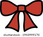 party bow icon. editable bold...