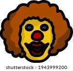 party clown face icon. editable ...