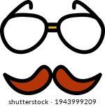 glasses and mustache icon....