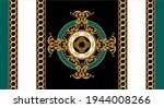 seamless  border with golden...   Shutterstock .eps vector #1944008266