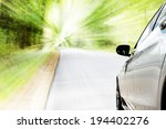 car and green nature    Shutterstock . vector #194402276