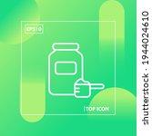jar of  dry powder sports... | Shutterstock .eps vector #1944024610
