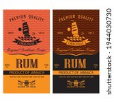 collection of rum labels with... | Shutterstock .eps vector #1944030730