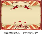 horizontal red circus retro. a... | Shutterstock .eps vector #194404019