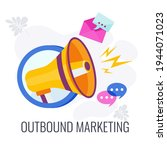 outbound marketing icon.... | Shutterstock .eps vector #1944071023