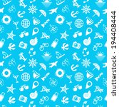 pattern with summer symbols | Shutterstock .eps vector #194408444