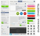 web design elements set online... | Shutterstock .eps vector #194408756