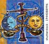 Libra Horoscope Symbol. Starry...