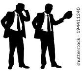 businessmen with hats isolated...   Shutterstock .eps vector #194411240