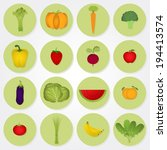 colored icons of vegetables and ... | Shutterstock .eps vector #194413574
