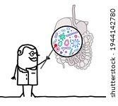 hand drawn cartoon doctor...   Shutterstock .eps vector #1944142780