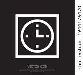 wall clock icon vector design....