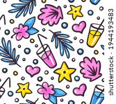 seamless repeat pattern with... | Shutterstock .eps vector #1944193483