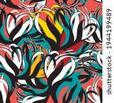 abstract linear vector... | Shutterstock .eps vector #1944199489