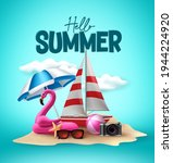 hello summer vector design.... | Shutterstock .eps vector #1944224920