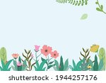 vector background with floral...   Shutterstock .eps vector #1944257176