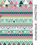 tribal ethnic textile... | Shutterstock .eps vector #194427563