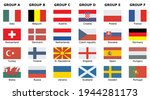 flags of participating teams... | Shutterstock .eps vector #1944281173