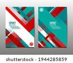 dynamic grunge sport cover set  ... | Shutterstock .eps vector #1944285859