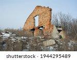 Broken Brick Wall Of A Building ...