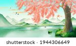 Landscape Painting Of Peach...