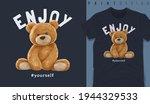 graphic t shirt design  enjoy...   Shutterstock .eps vector #1944329533