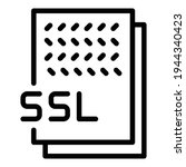 ssl document icon. outline ssl...